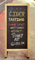 Cider tasting at the Seymour